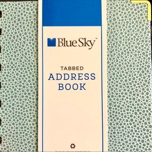 📘NEW! Blue Sky Address Book